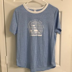 Whatever floats your boat blue tee